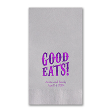 Personalized Guest Towels - Silver